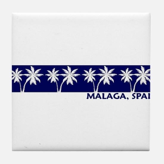 Malaga, Spain Tile Coaster