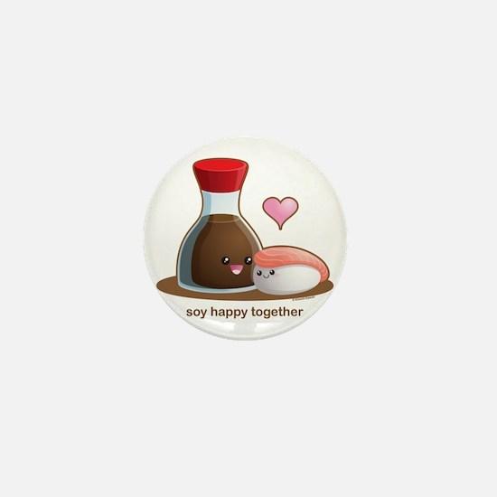 Soy Happy Mini Button