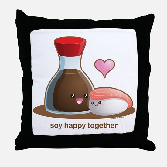 Soy Happy Throw Pillow