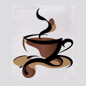 Coffee Time Throw Blanket