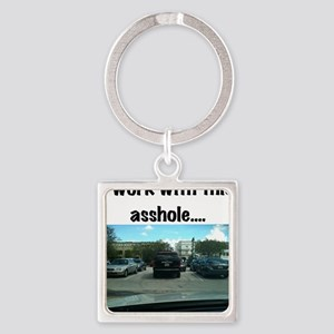 Parking asshole Square Keychain
