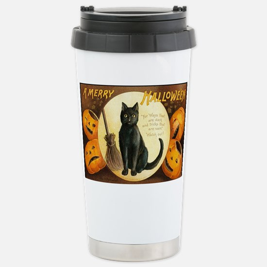 MerryHWGreetCard-a Stainless Steel Travel Mug