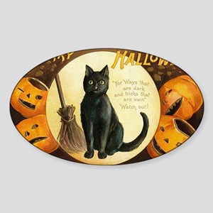 MerryHWGreetCard-a Sticker (Oval)