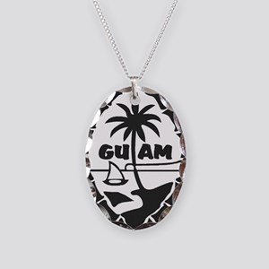 Guam Seal Necklace Oval Charm