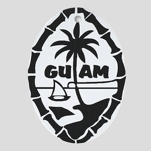 Guam Seal Oval Ornament