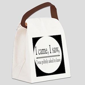 camesawbutton Canvas Lunch Bag