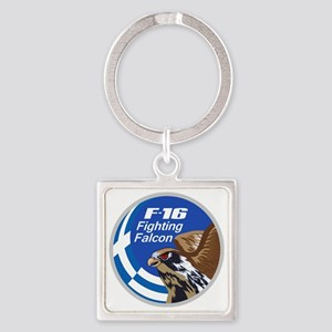 F-16 Fighting Falcon - Greece Square Keychain