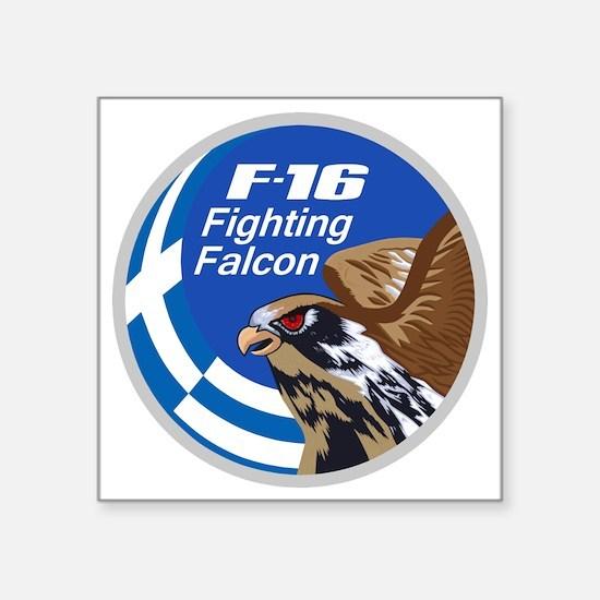"""F-16 Fighting Falcon - Gree Square Sticker 3"""" x 3"""""""