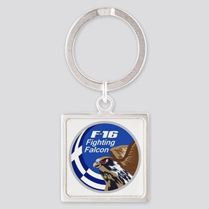 F-16 Fighting Falcon – Greece Square Keychain