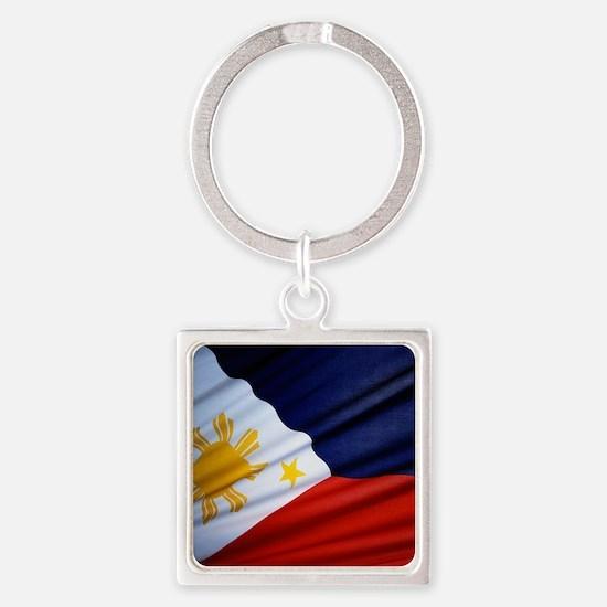 Filipino Pride Square Keychain