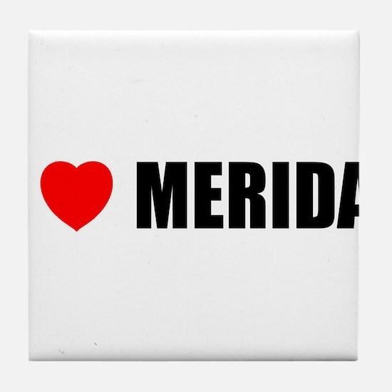 I Love Merida, Spain Tile Coaster