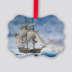 Under sail Picture Ornament
