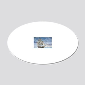 Under sail 20x12 Oval Wall Decal