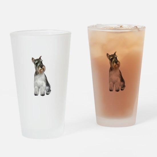Schnauzer (11C) Drinking Glass