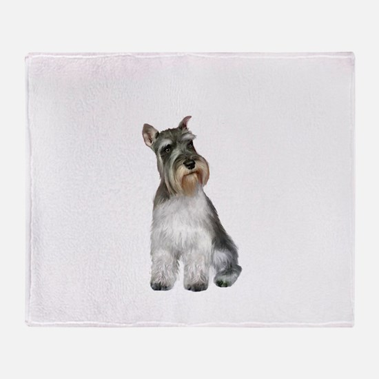 Schnauzer (11C) Throw Blanket