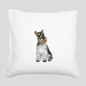 Schnauzer (11C) Square Canvas Pillow