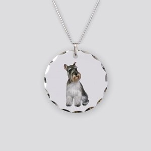 Schnauzer (11C) Necklace Circle Charm