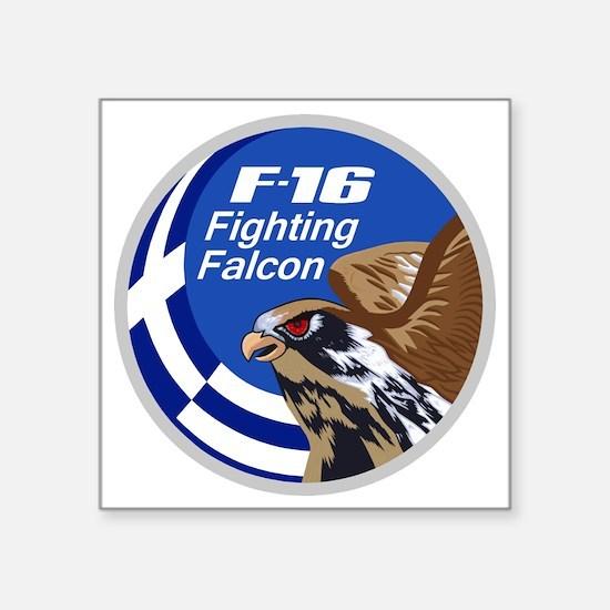 """Greek F-16 Square Sticker 3"""" x 3"""""""