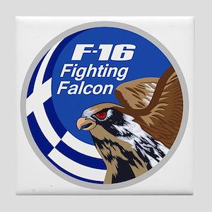 Greek F-16 Tile Coaster