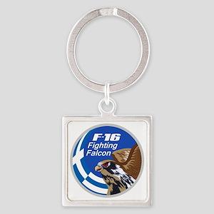 F-16 Fighting Falcon - Greece #2 Square Keychain