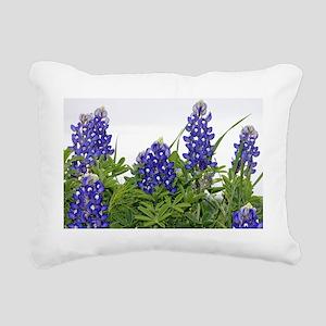 Texas bluebonnet pillowc Rectangular Canvas Pillow