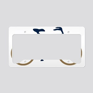 Blue and Gold Cycling License Plate Holder