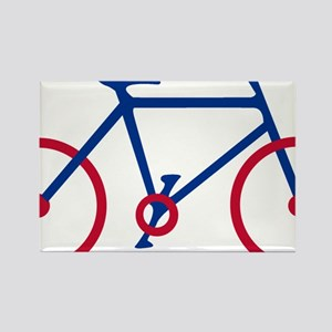Blue and Red Cycling Rectangle Magnet