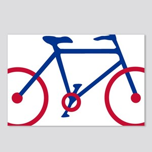 Blue and Red Cycling Postcards (Package of 8)