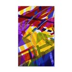 Inner Space - Abstract Rainbow 35x21 Wall Decal