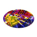 Inner Space Abstract Rainbow 35x21 Oval Wall Decal