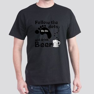 Follow The Dots And Drink Beer Dark T-Shirt