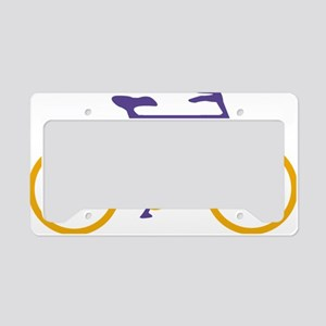 Purple and Gold Cycling License Plate Holder