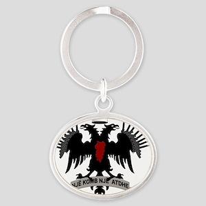 Shqiponja  Oval Keychain