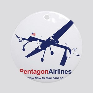 Pentagon Airlines Round Ornament