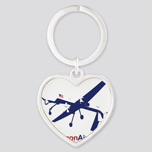 Pentagon Airlines Heart Keychain