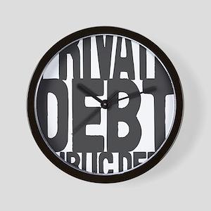 Private Debt v Public Debt Wall Clock