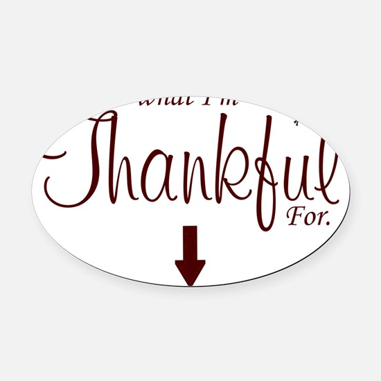 Thankful Maternity2 Oval Car Magnet