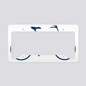 Blue and White Cycling License Plate Holder