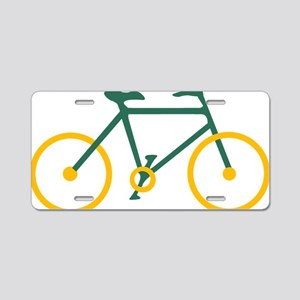 Green and Gold Cycling Aluminum License Plate