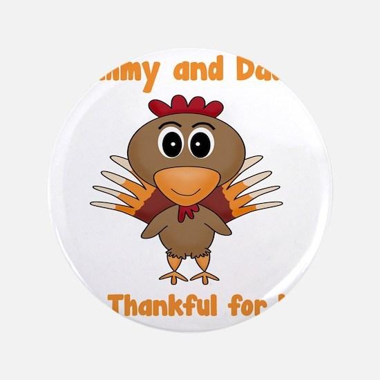 "Thankful Turkey 3.5"" Button"