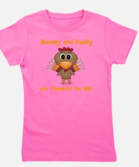 Thankful Turkey Girl's Tee