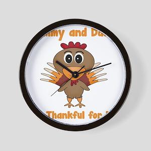 Thankful Turkey Wall Clock