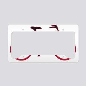 Red and Black Cycling License Plate Holder