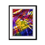 Inner Space - Abstract Rainbow Framed Panel Print