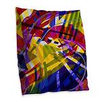 Inner Space, Abstract Rainbow Burlap Throw Pillow