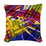 Inner Space Rainbow Woven Throw Pillow