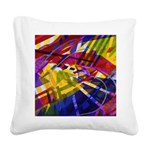 Inner Space Rainbow Square Canvas Pillow