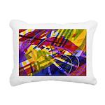 Inner Space Rainbow Rectangular Canvas Pillow