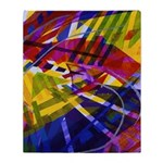 Inner Space - Abstract Rainbow Throw Blanket