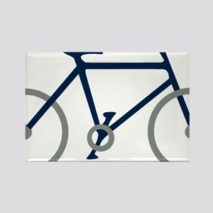 Blue and Silver Cycling Rectangle Magnet